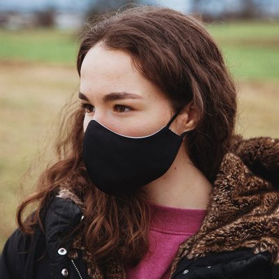 Higienska maska obojestranska – pralna – ženska BW Ž